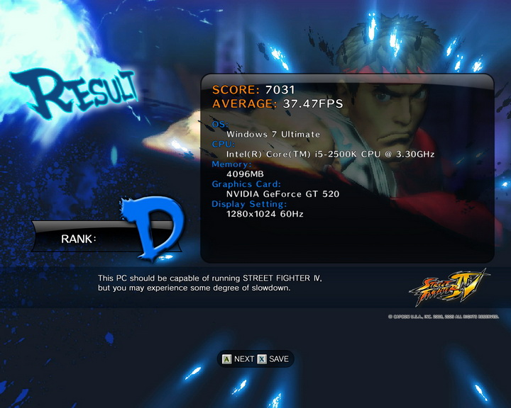 streetfighteriv benchmark 2011 07 08 23 46 27 731 PaLiT Geforce GT 520 1024MB DDR3 Review