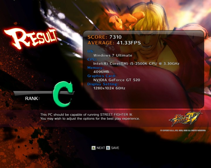 streetfighteriv benchmark 2011 07 09 20 12 20 711 720x576 PaLiT Geforce GT 520 1024MB DDR3 Review