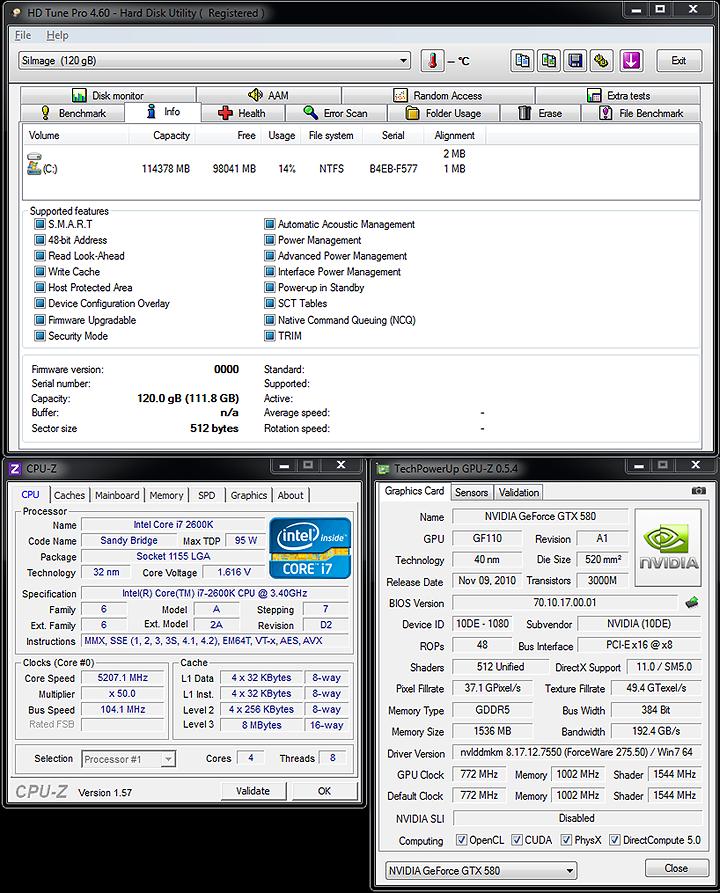 system setting1 OCZ RevoDrive 120GB