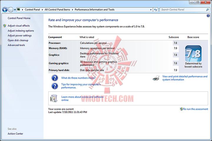 windows rating OCZ RevoDrive 120GB