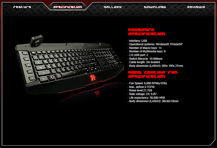 spec2 Tt eSPORTS Challenger Ultimate Gaming Keyboard