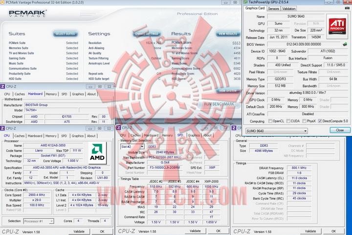 pcmark vantage BIOSTAR TA75M+ Review