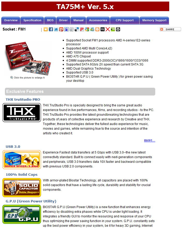 1 BIOSTAR TA75M+ Review