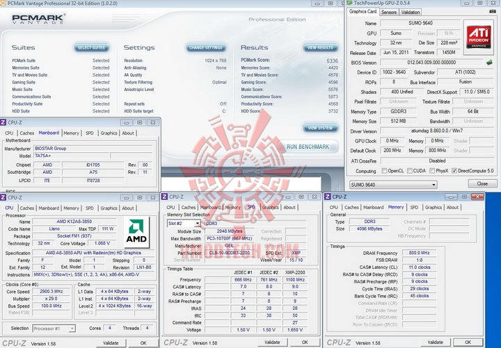 pcmark vantage BIOSTAR TA75A+ Review