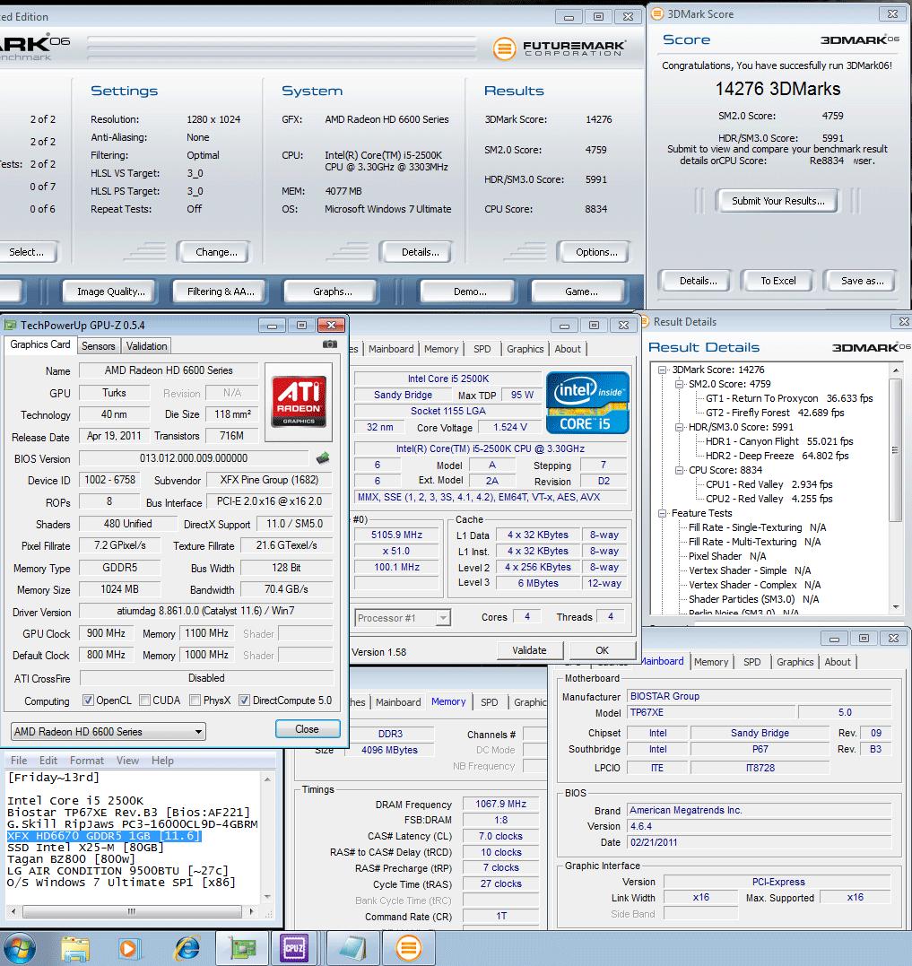 900 1100 3d2k6 14276 XFX Radeon HD6670 1GB GDDR5 : Review