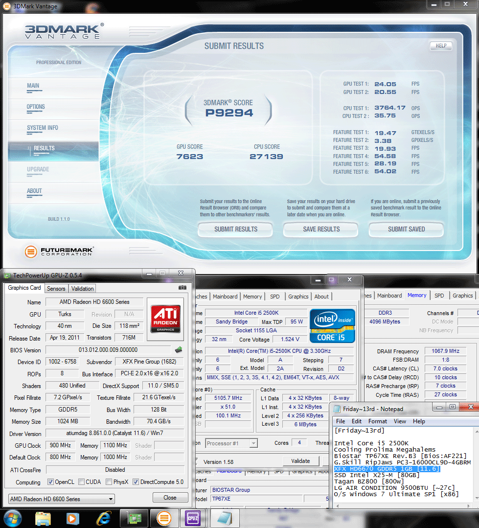 900 1100 3dvantage p9294 XFX Radeon HD6670 1GB GDDR5 : Review