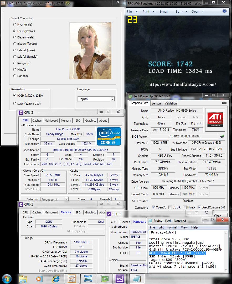 900 1100 dx9 ffxiv 1742 XFX Radeon HD6670 1GB GDDR5 : Review