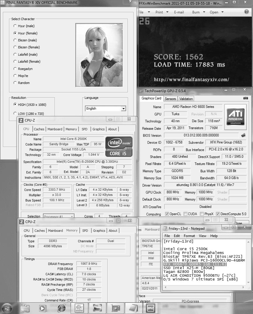 default dx9 ffxiv 1562 XFX Radeon HD6670 1GB GDDR5 : Review
