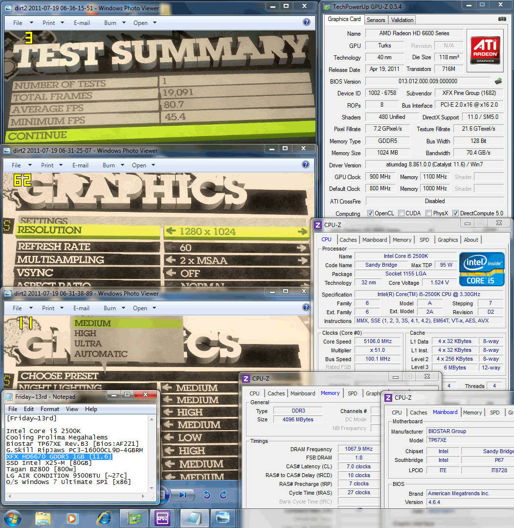 1280x1024 dx11 dirt2 80 XFX Radeon HD6670 1GB GDDR5 : Review