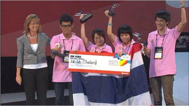jubjub wins 2nd prize เยาวชนนักพัฒนาของไทย ทีม JubJub ประกาศชัยชนะบนเวทีการแข่งขันระดับโลก Worldwide Microsoft Imagine Cup 2011