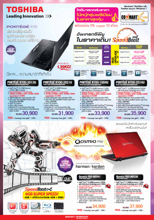 toshiba1 506x720 Toshiba Promotion in Commart XGEN Thailand 2011