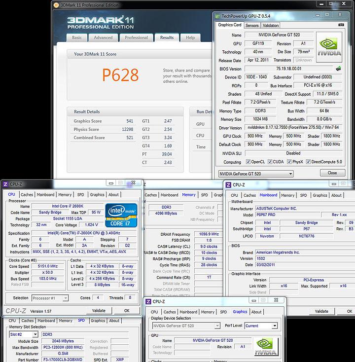 11 SPARKLE GT520 Calibre Nvidia GT520