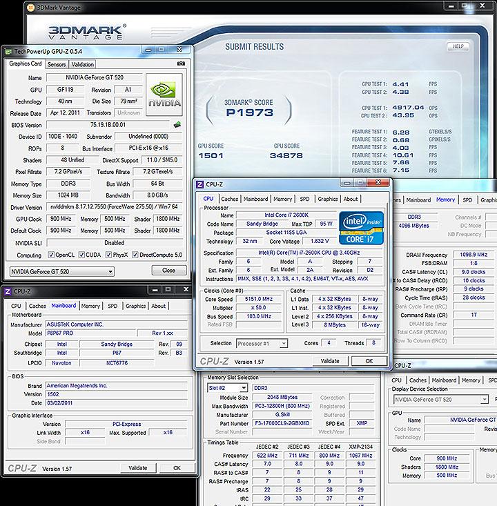 vantage SPARKLE GT520 Calibre Nvidia GT520