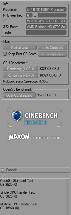 cinebench r10 aa Gigabyte 990FXA UD7 Review