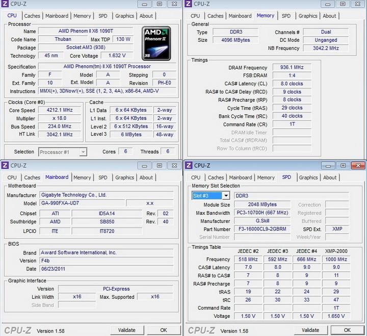 cpuz 1 Gigabyte 990FXA UD7 Review