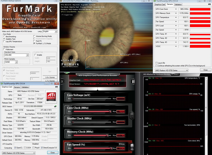 furmark 985 PowerColor Radeon HD6790 Review