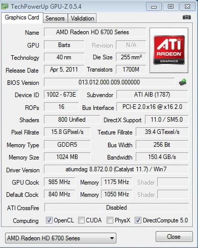 gpuz 985 PowerColor Radeon HD6790 Review