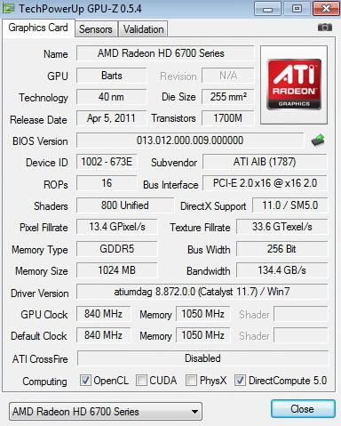 gpuz PowerColor Radeon HD6790 Review