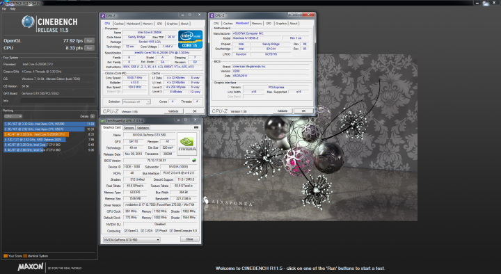 cinebench 720x394 ASUS Maximus IV GENE Z Motherboard