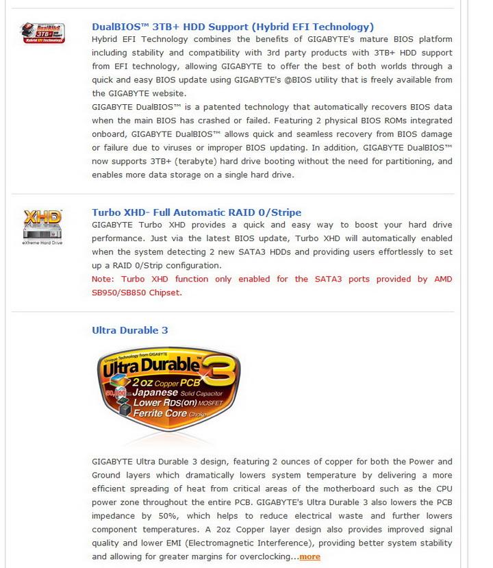6 Gigabyte 990FXA UD5 Review