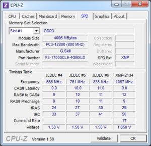 cpuz spd 300x289 G.Skill RipjawsX F3 17000CL9Q 16GBXLD 4GB x 4