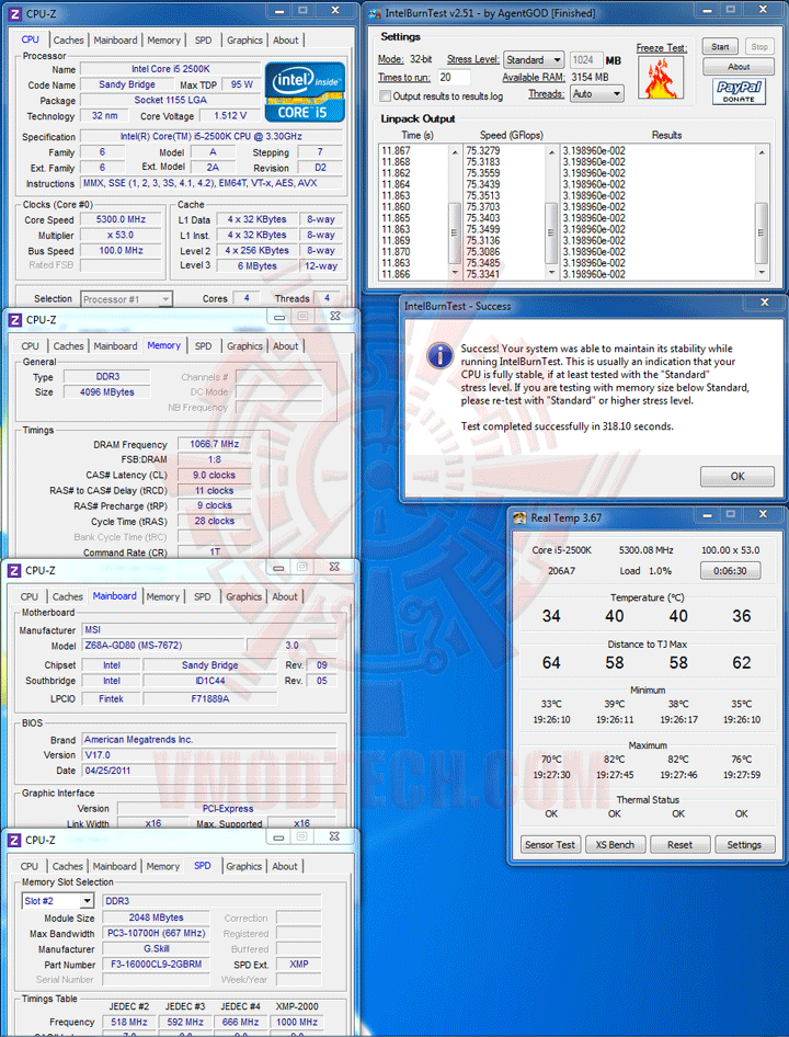 intelburn MSI Z68A GD80 B3 : Master of Performance & Stabilities