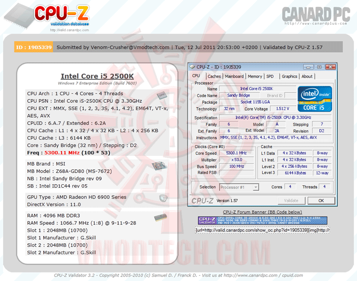 validate MSI Z68A GD80 B3 : Master of Performance & Stabilities
