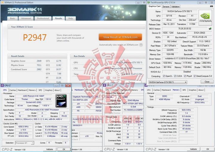 11 1030 EVGA GeForce GTX 550Ti SC 1024MB GDDR5 Review