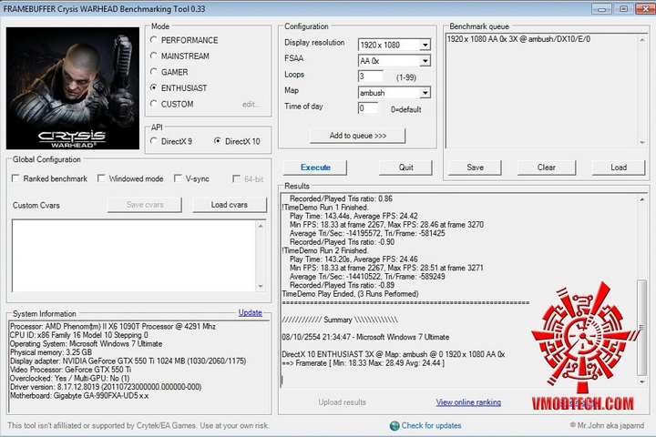 crysis 1030 EVGA GeForce GTX 550Ti SC 1024MB GDDR5 Review