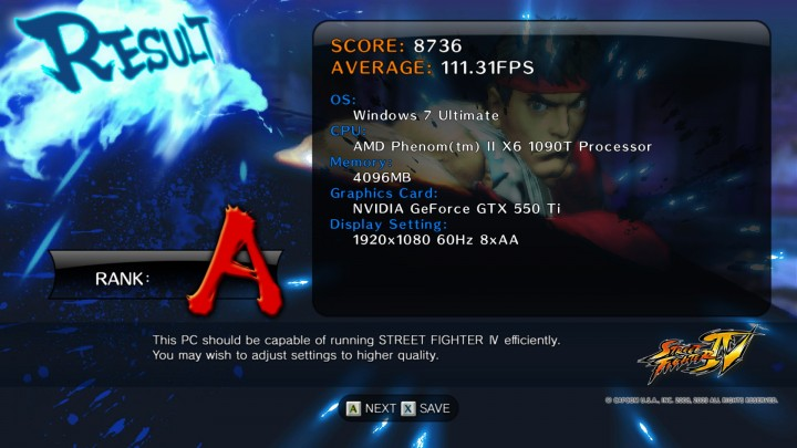 streetfighteriv benchmark 2011 08 09 22 58 58 42 720x405 EVGA GeForce GTX 550Ti SC 1024MB GDDR5 Review