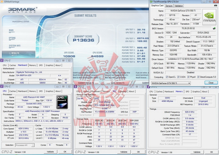 vantage EVGA GeForce GTX 550Ti SC 1024MB GDDR5 Review