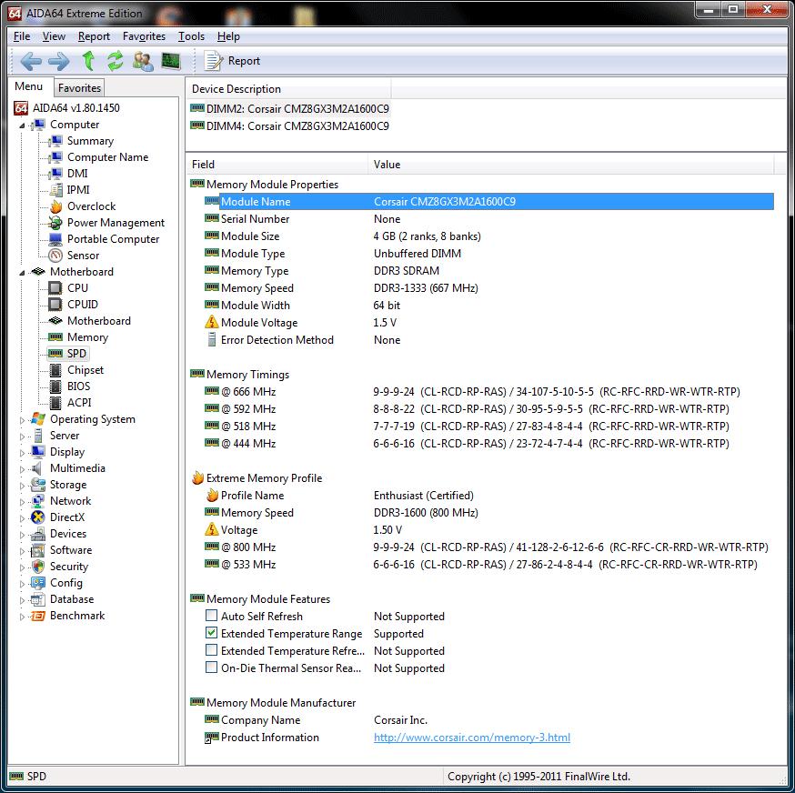 หน้าที่ 1 - Corsair VENGEANCE DDR3-1600CL9 8GB : Review