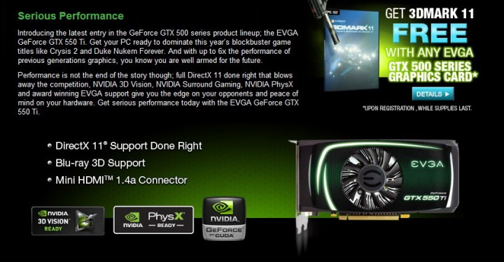 2 720x375 EVGA GeForce GTX 550Ti SC 1024MB GDDR5 Review