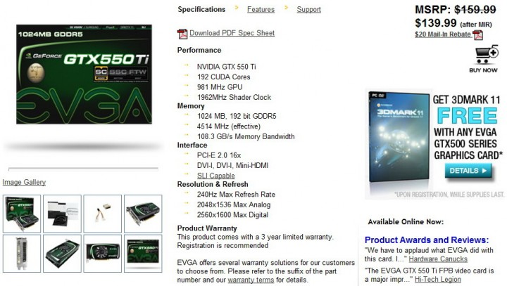 3 720x407 EVGA GeForce GTX 550Ti SC 1024MB GDDR5 Review