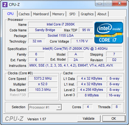 cpuz1 GIGABYTE Z68XP UD5 Extreme Motherboard