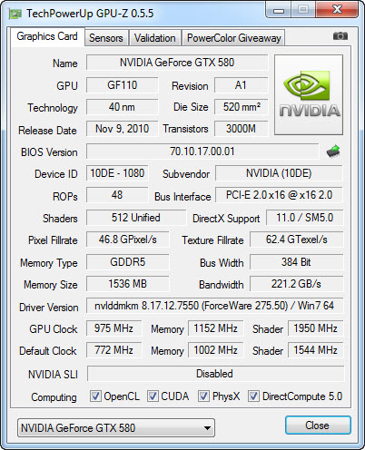 gpuz GIGABYTE Z68XP UD5 Extreme Motherboard