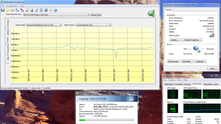 copy with 100mbps Tenda W322U 300Mbps Wireless N USB Adapter V2.0