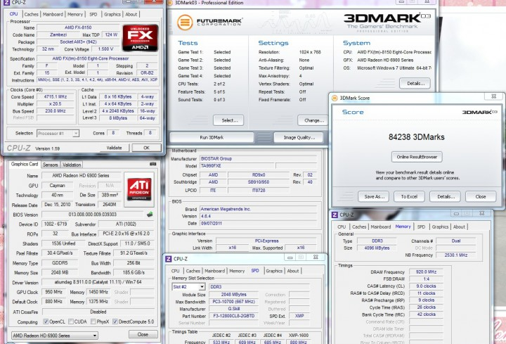 3dmark03 BIOSTAR TA990FXE Extreme Edition Motherboard Review