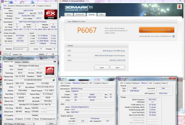 3dmark11 BIOSTAR TA990FXE Extreme Edition Motherboard Review