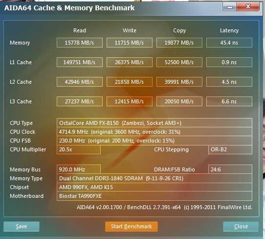 memory BIOSTAR TA990FXE Extreme Edition Motherboard Review