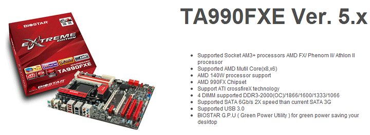 spec1 BIOSTAR TA990FXE Extreme Edition Motherboard Review
