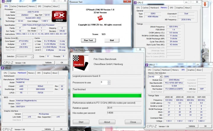 cpumark fritz BIOSTAR TA990FXE Extreme Edition Motherboard Review