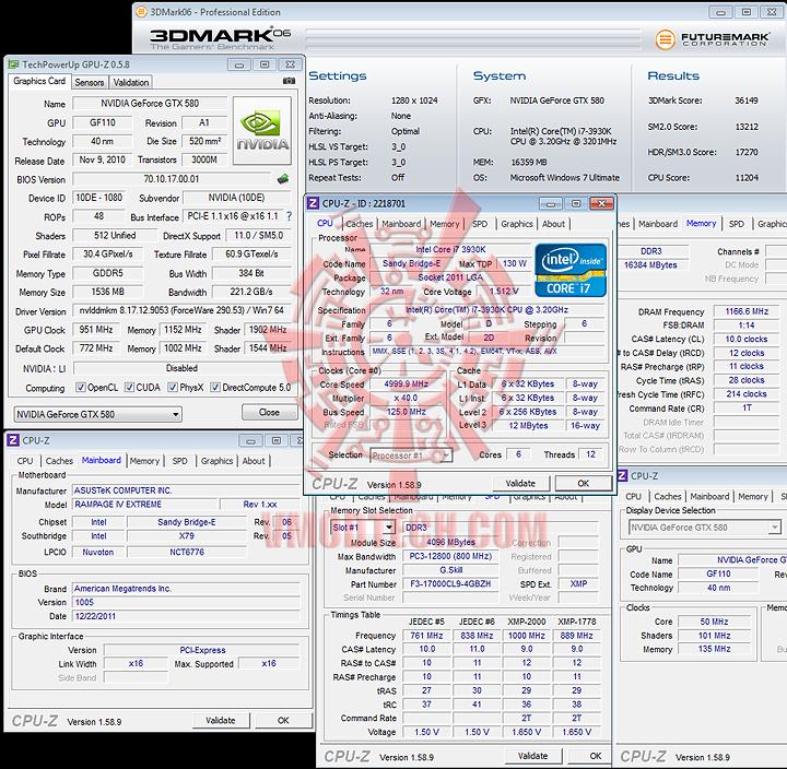 3d06 ASUS RAMPAGE IV EXTREME LGA 2011 Motherboard
