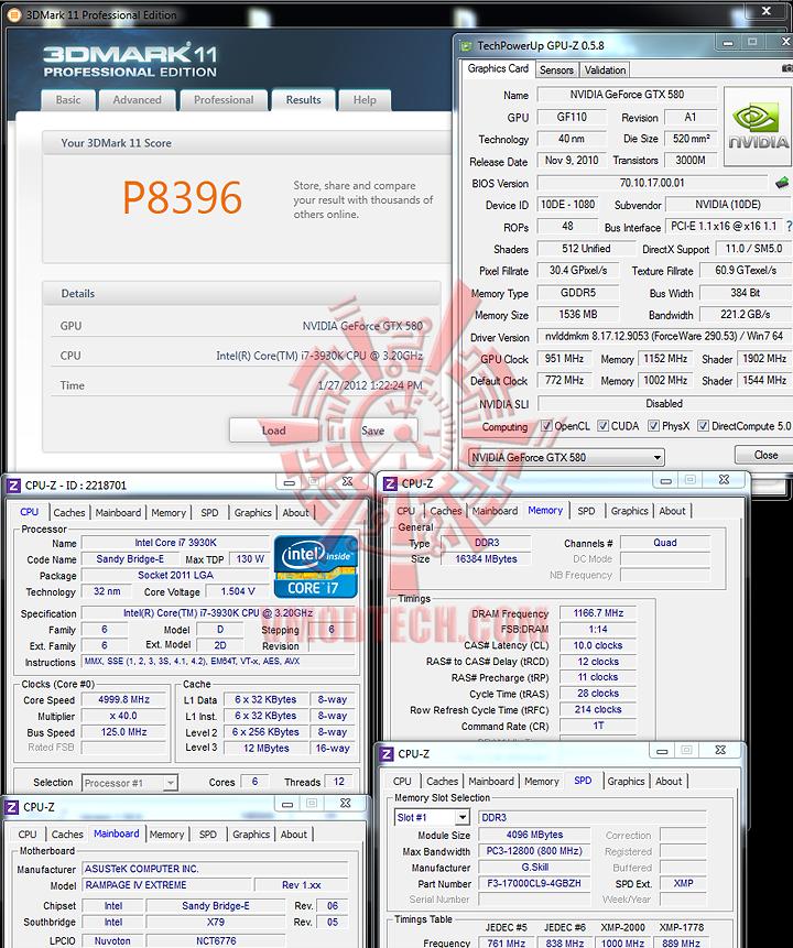 3d11 ASUS RAMPAGE IV EXTREME LGA 2011 Motherboard
