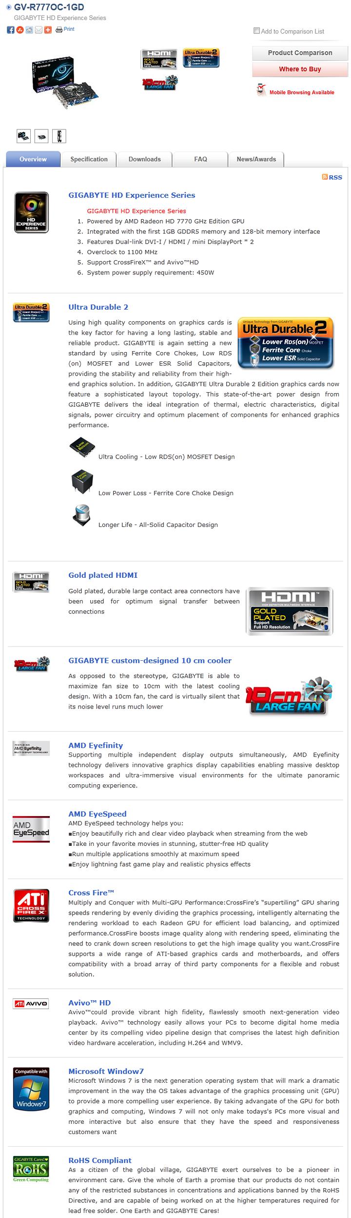 หน้าที่ 1 - GIGABYTE AMD Radeon HD7770 GHz Edition | Vmodtech com