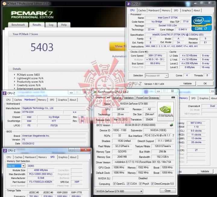 pcmark7 720x654 GIGABYTE H77M D3H Intel H77 Motherboard