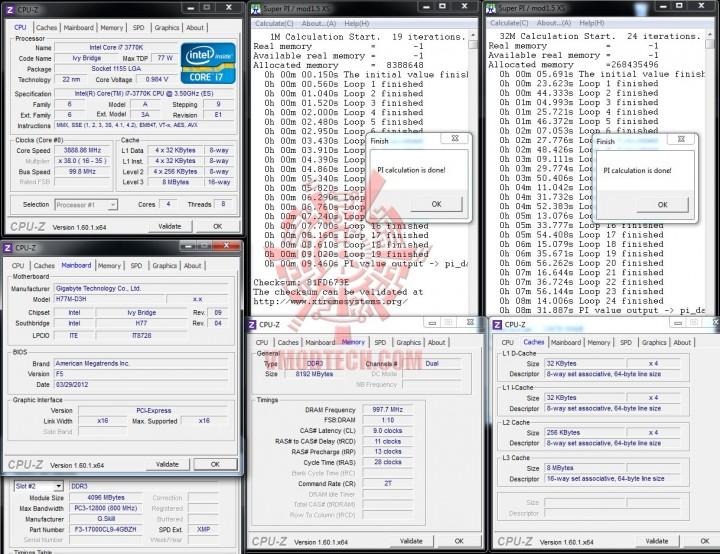 superpi 720x554 GIGABYTE H77M D3H Intel H77 Motherboard