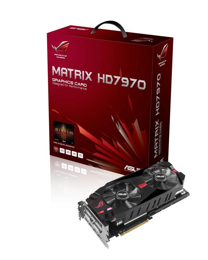 pr asus rog matrix hd 7970 graphics card standard edition เอซุส เผยโฉมกราฟฟิกส์การ์ดรุ่นเรือธง ROG MATRIX HD 7970 GHz Edition