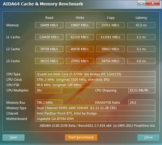 e1 GIGABYTE GA B75M D3H Micro ATX Motherboard Review