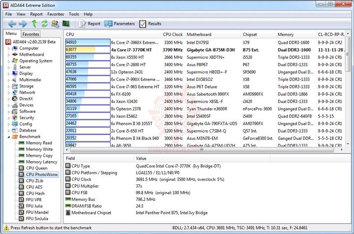 e3 GIGABYTE GA B75M D3H Micro ATX Motherboard Review